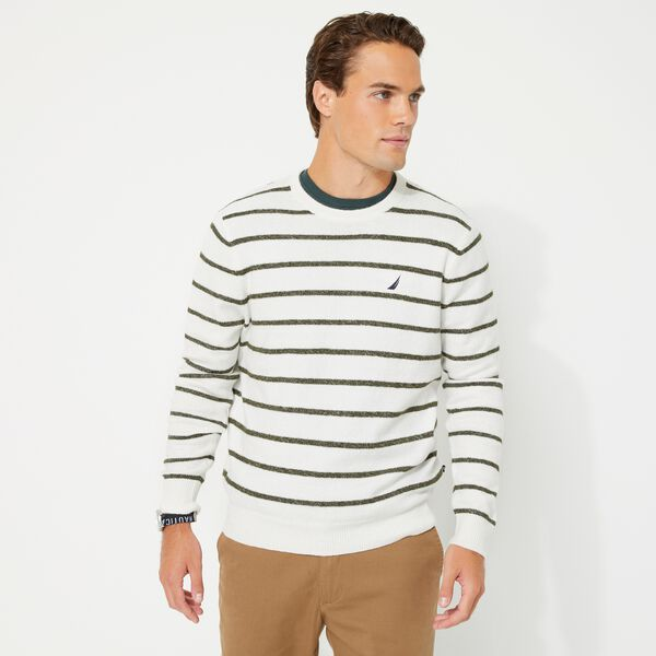 SUSTAINABLY CRAFTED STRIPE J-CLASS SWEATER - Marshmallow