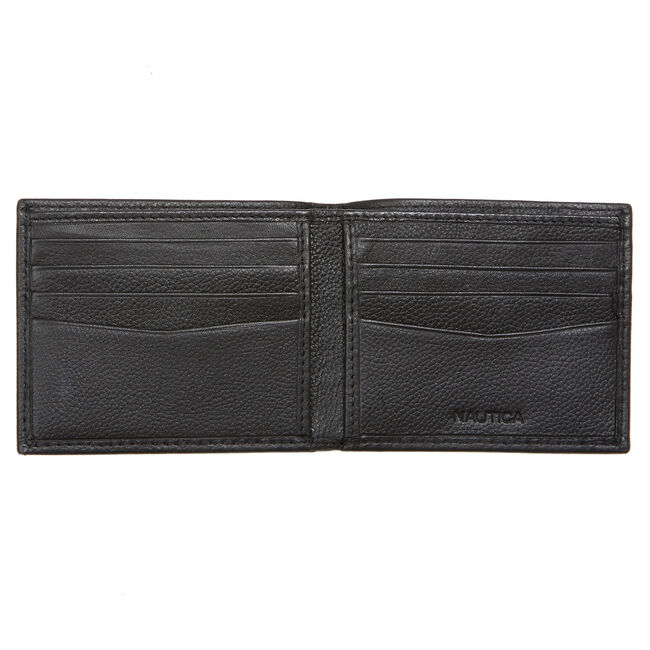 Milled Flat Billfold Wallet,Rust Blue Wash Outlet,large