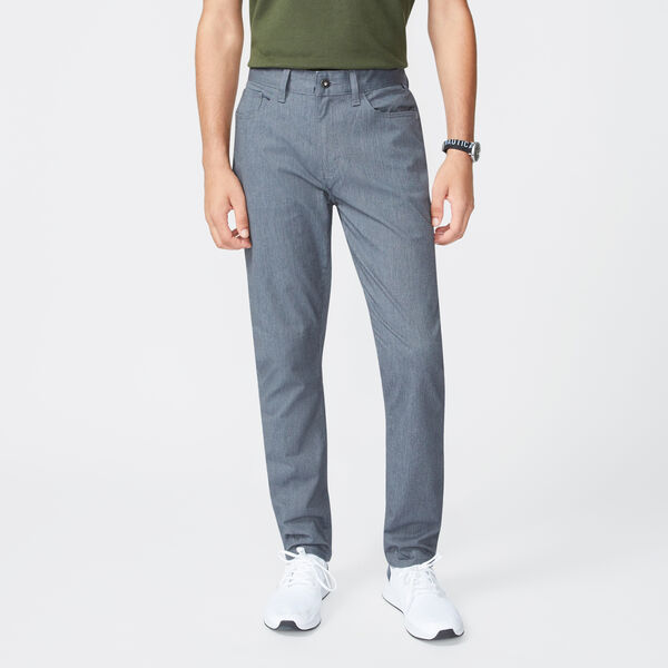 SLIM FIT TWILL ANCHOR PANT - Heather Grey