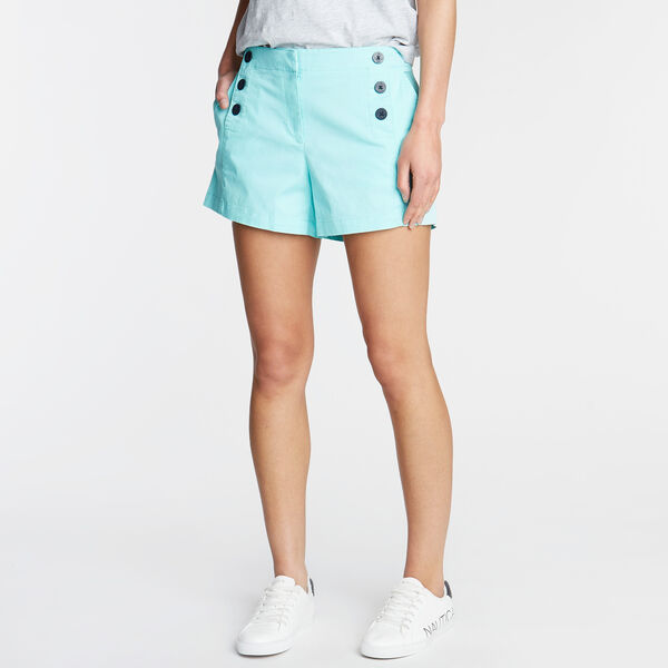 "Stretch Twill Sailor Shorts - 4"" Inseam - Noon Blue"