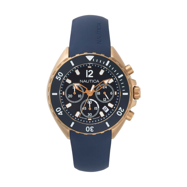 Newport Chronograph Watch - Navy - Ice Blue