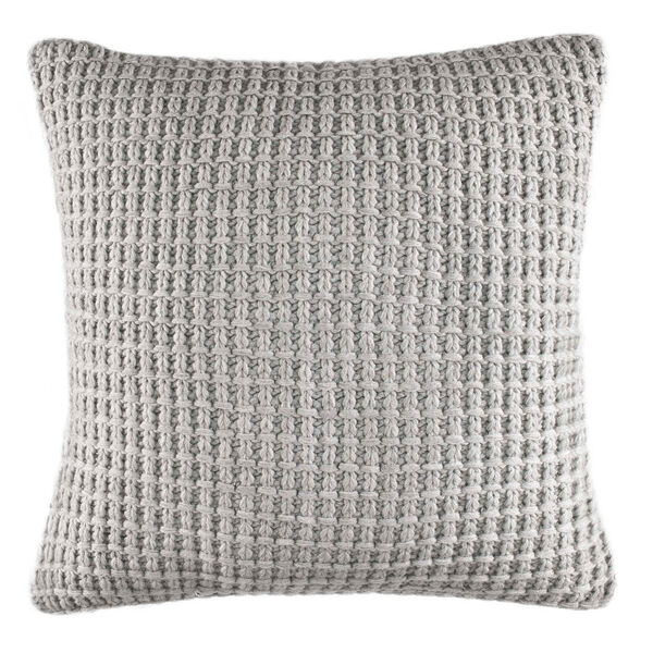 Fairwater Knit Throw Pillow - Haze Grey Heather