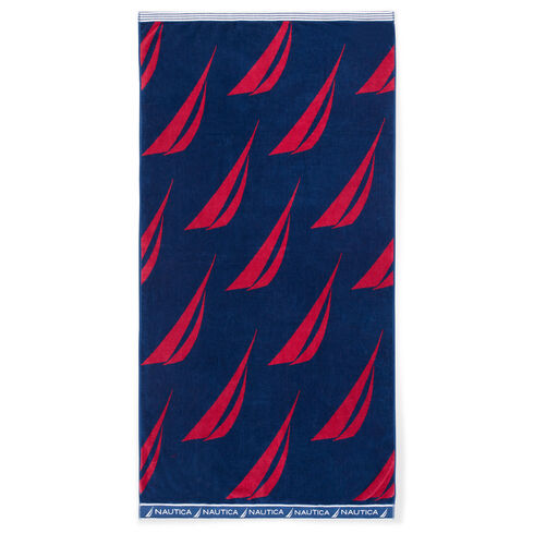 Spinnaker Sail Beach Towel - Navy