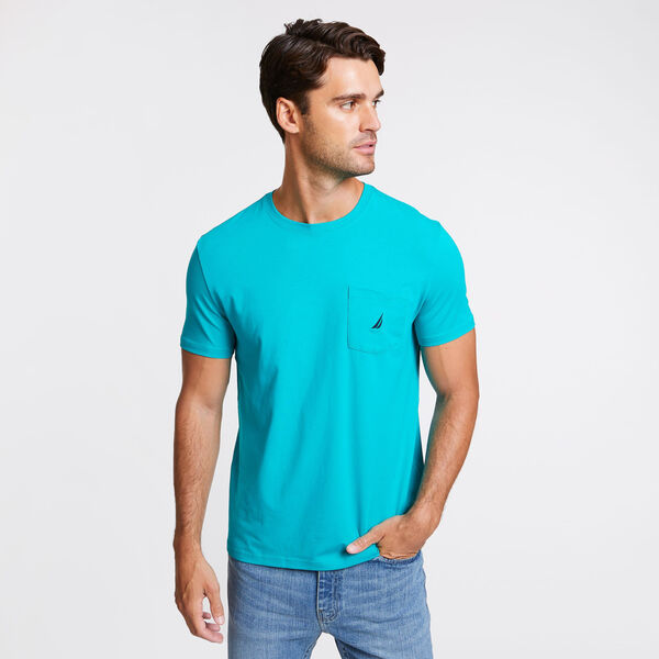 Short Sleeve Crewneck Pocket T-Shirt - Crisp Green