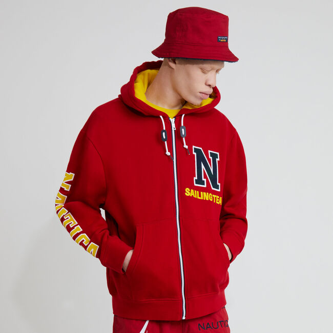 The Lil Yachty Collection  by Nautica Zip-Up Hoodie,Nautica Red,large