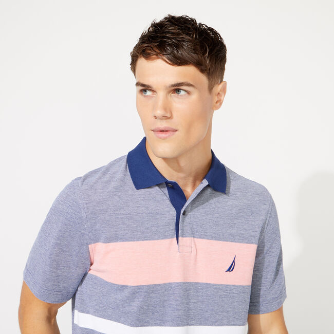 CLASSIC FIT SOLID OXFORD POLO,J Navy,large