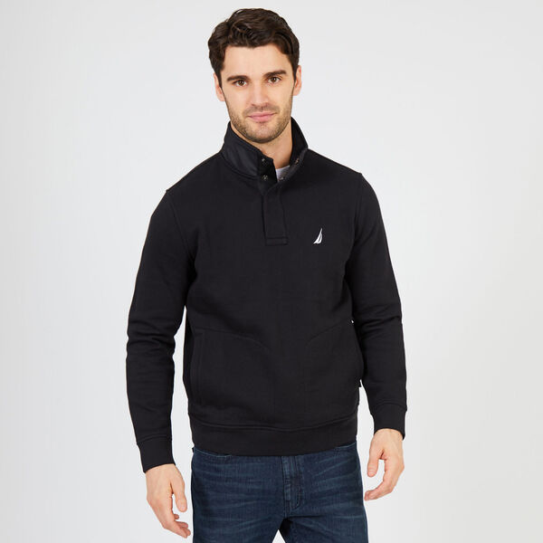 Quarter-Snap Tech Fleece Pullover - True Black
