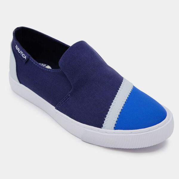 SUSTAINABLY CRAFTED COLORBLOCK SLIP-ON SNEAKER - Naval Blue
