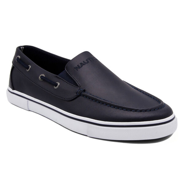 Doubloon Boat Shoe in Navy - Pure Dark Pacific Wash