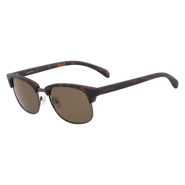 Iconic Clubmaster Sunglasses with Tortoise Frame - Matte Dark Tortoise