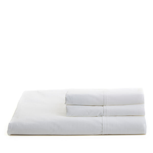 White Percale Sheet Set - Antique White Wash