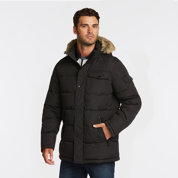 BIG & TALL PARKA WITH REMOVABLE HOOD - Black