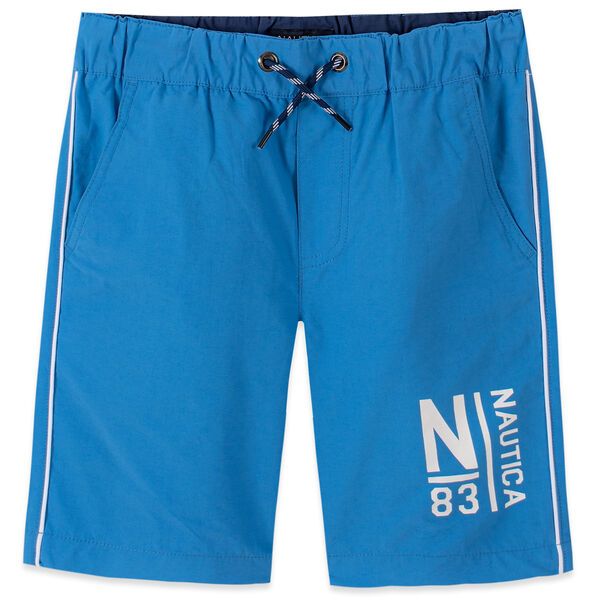 LITTLE BOYS' DAX PULL LOGO SHORTS (4-7) - Clear Sky Blue