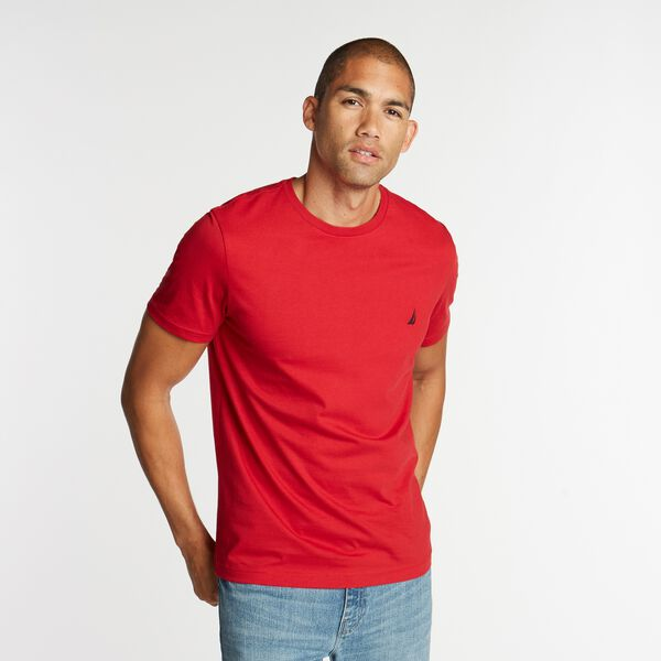 SOLID CREW NECK T-SHIRT - Nautica Red