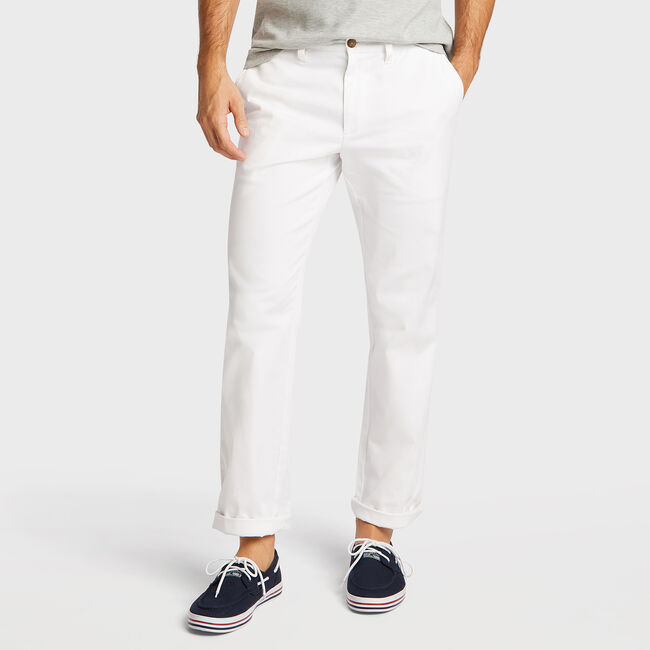 Classic Fit Deck Pant,Bright White,large