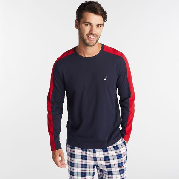 COLORBLOCK J-CLASS LONG SLEEVE SLEEP TOP - Navy
