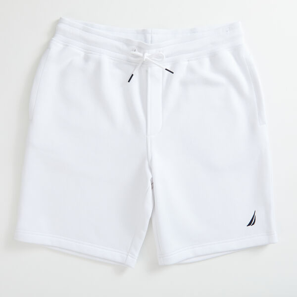 "9"" LOGO KNIT SHORTS    - Bright White"