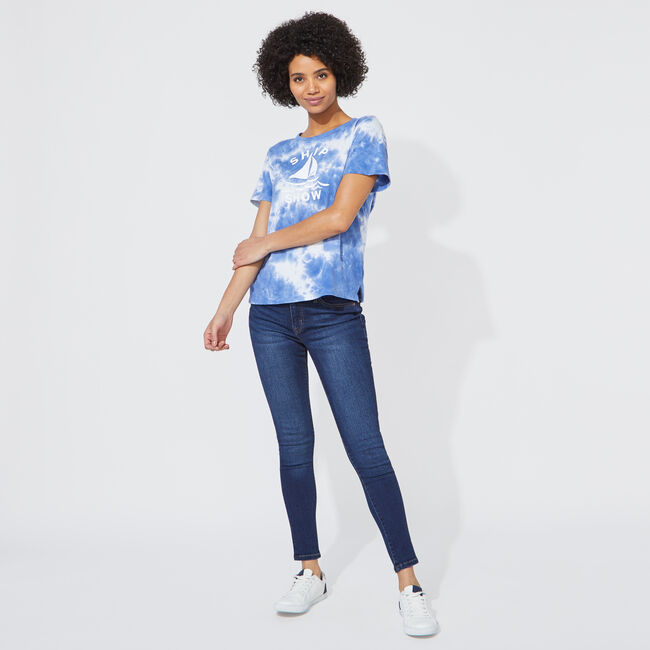 NAUTICA JEANS CO. TIE-DYE GRAPHIC T-SHIRT,Bright White,large