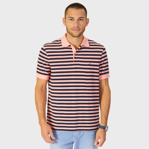 Classic Fit Performance Striped Polo - Sunset
