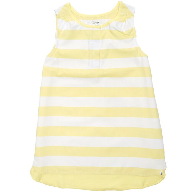 Little Girls' Striped Tank (2T-7),Hot Yellow,large