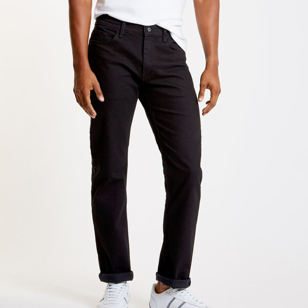 Black Ink Wash Straight Leg Jeans - Black Ink Wash