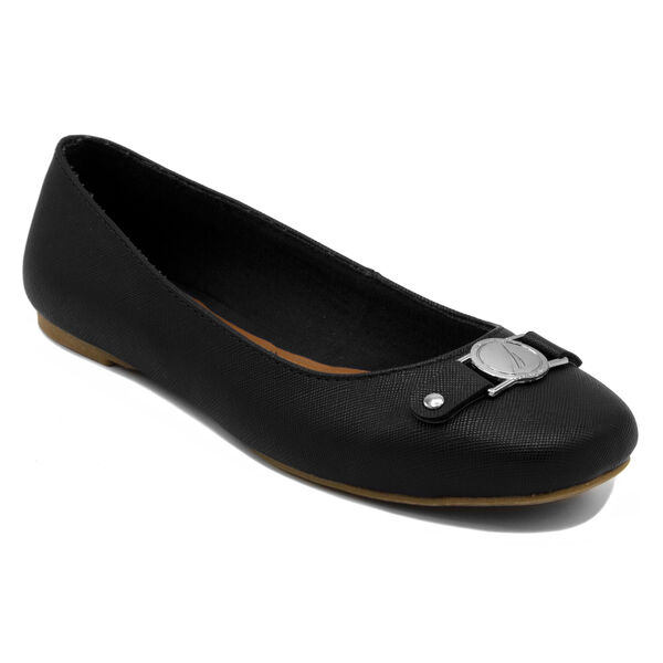Pembina Faux Leather Ballet Flats in Black - True Black