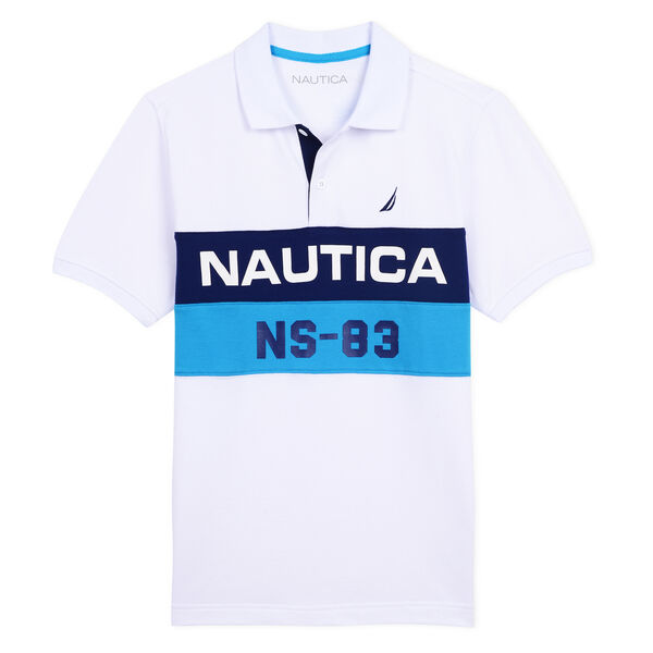 BOYS' JEFFREY BILLBOARD HERITAGE POLO - White