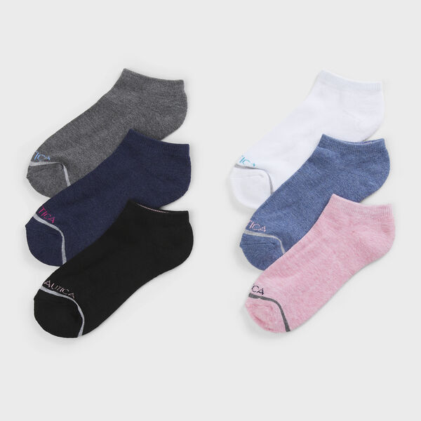 ATHLETIC LOW CUT SOCKS, 6-PACK - Multi