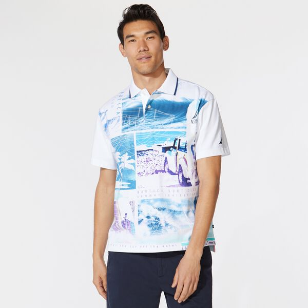 SURF CLUB GRAPHIC POLO - Bright White