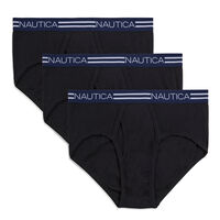 3-Pack Nautica Mens Classic Briefs (2 Colors)