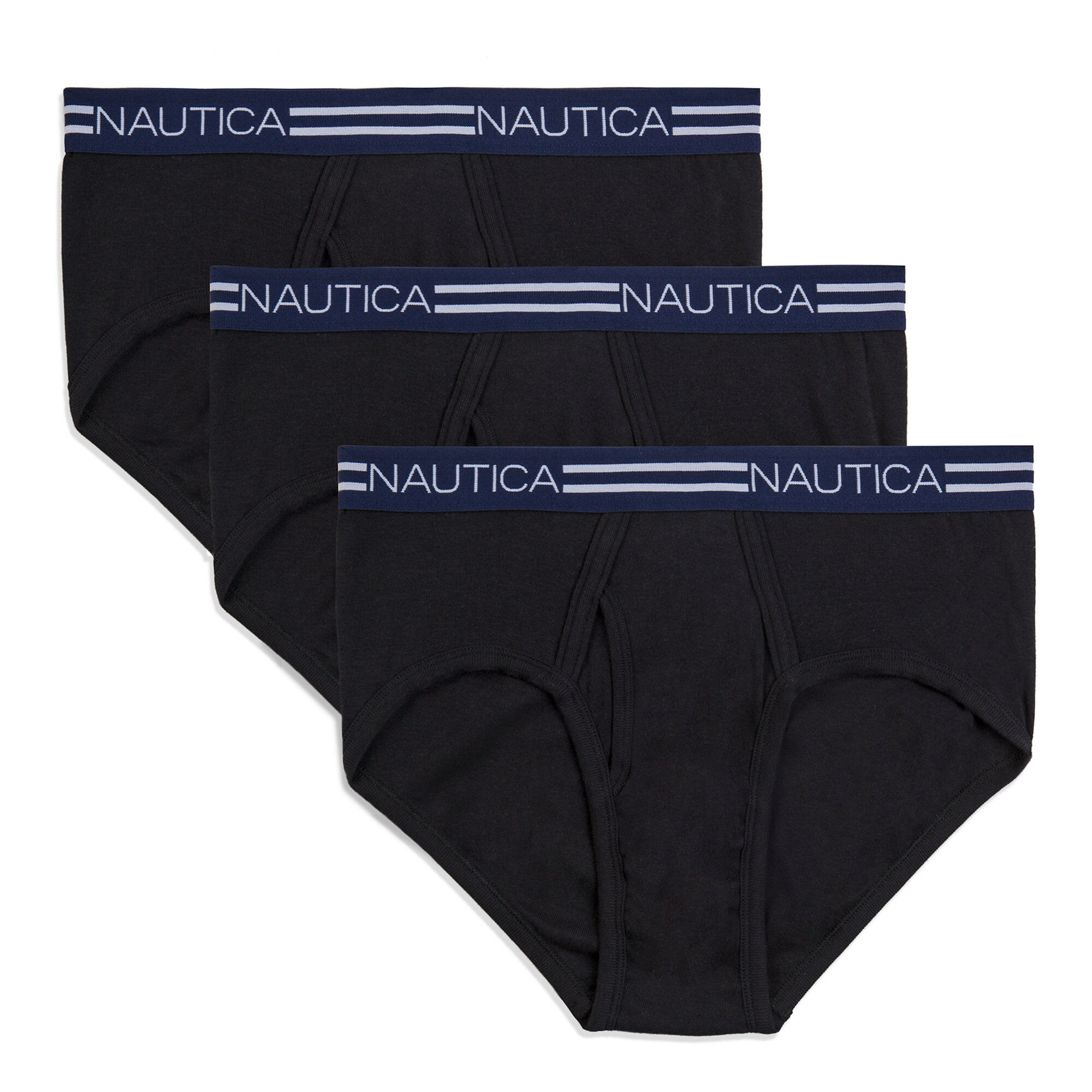 Nautica Mens Classic Briefs, 3-Pack