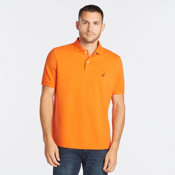 Classic Fit Mesh Polo - Rustic Sunset
