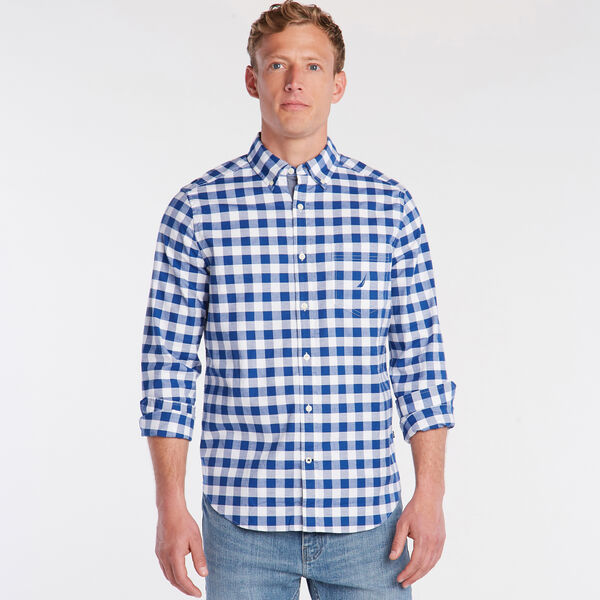 CLASSIC FIT OXFORD SHIRT IN LARGE GINGHAM - Limoges