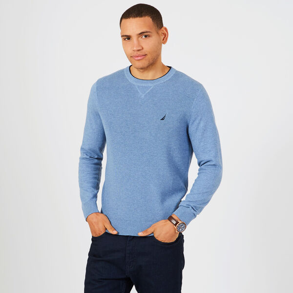 Navtech Performance Crewneck Sweater - Anchor Blue Heather