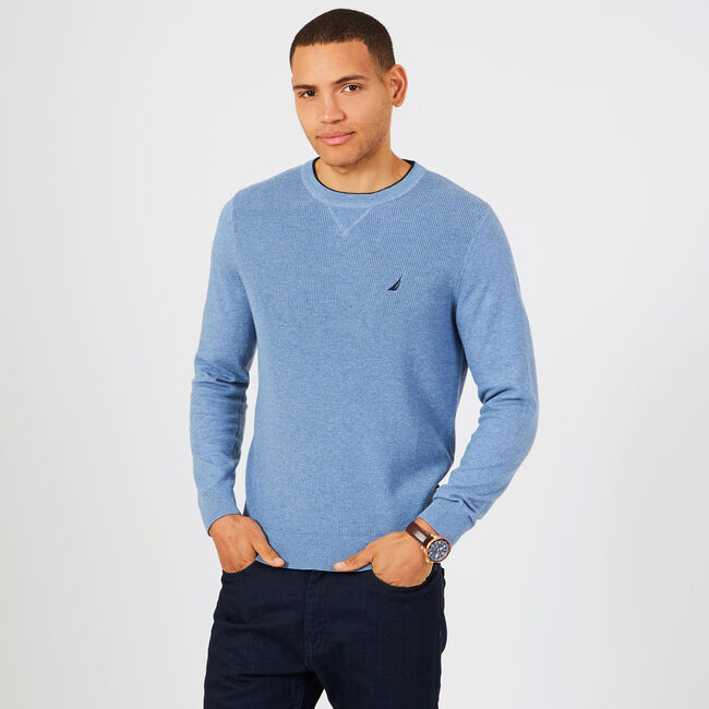 Navtech Performance Crewneck Sweater,Anchor Blue Heather,large