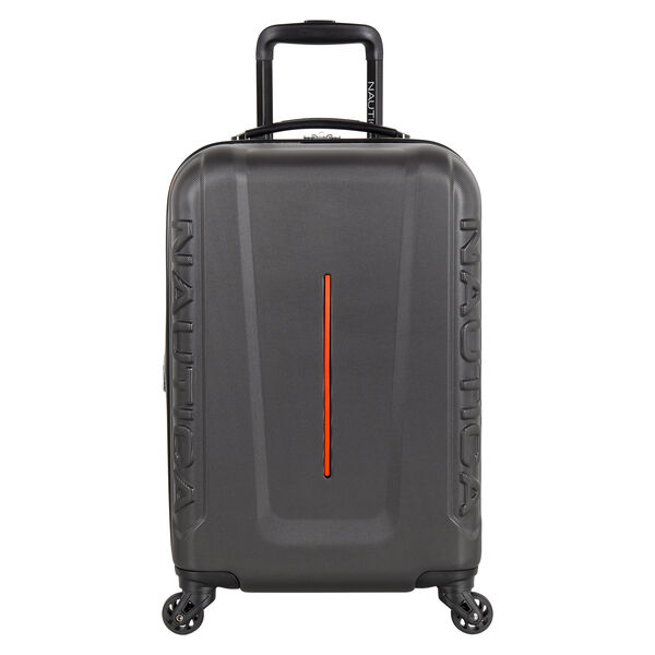 "Vernon Bay 20"" Hardside Spinner Luggage in Grey/Orange - Grey Heather"