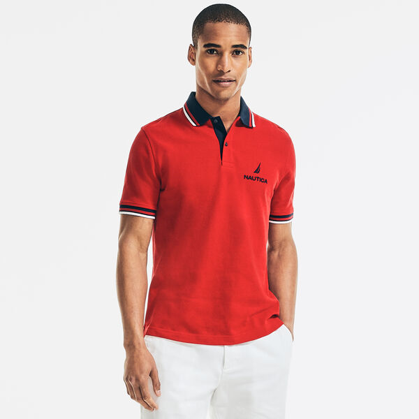 CLASSIC FIT LOGO POLO - Nautica Red