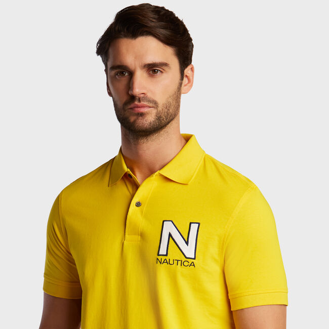 Short Sleeve 'N' Classic Fit Polo ,Empire Gold,large