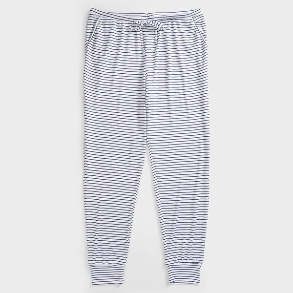 STRIPE KNIT PAJAMA PANT - Dark Oatmeal Heather