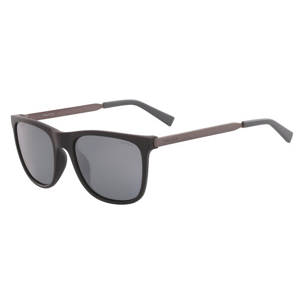 Rectangular Sunglasses with Matte Frame - Black Onyx