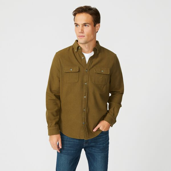 CLASSIC FIT FLAP POCKET SHIRT - Olive