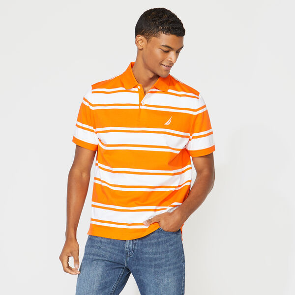 CLASSIC FIT STRIPED POLO - Pier Orange