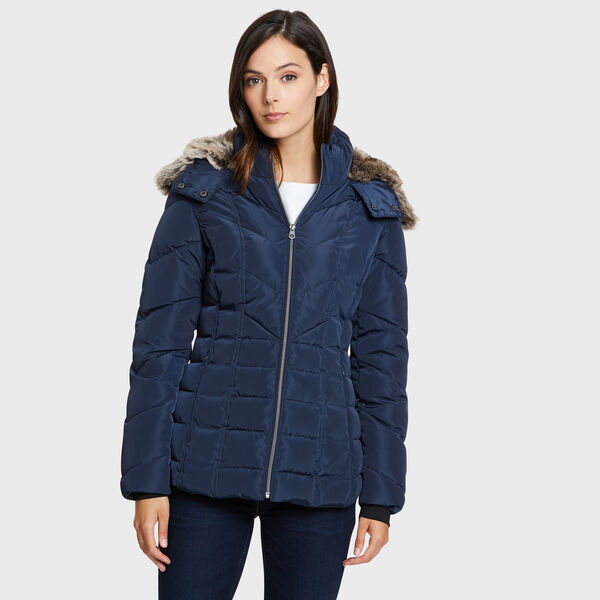 GALAXY PUFFER JACKET - Stellar Blue Heather
