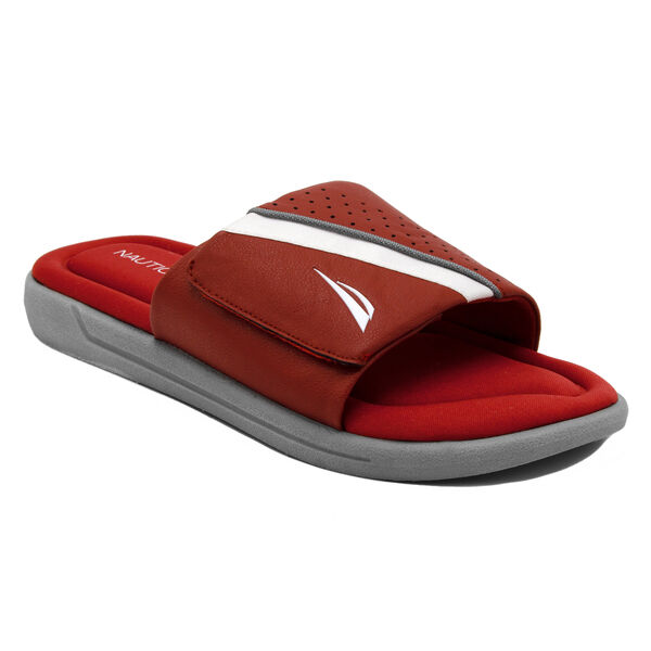 Montrell Slide Sandal in Red - Sunrise Red