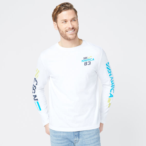 NS-83 LOGO GRAPHIC LONG SLEEVE T-SHIRT - Bright White