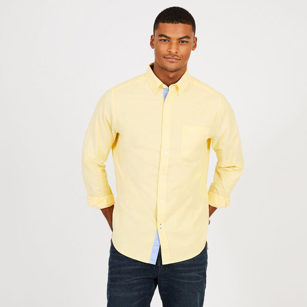 Long Sleeve Classic Fit Solid Oxford Shirt - Marigold