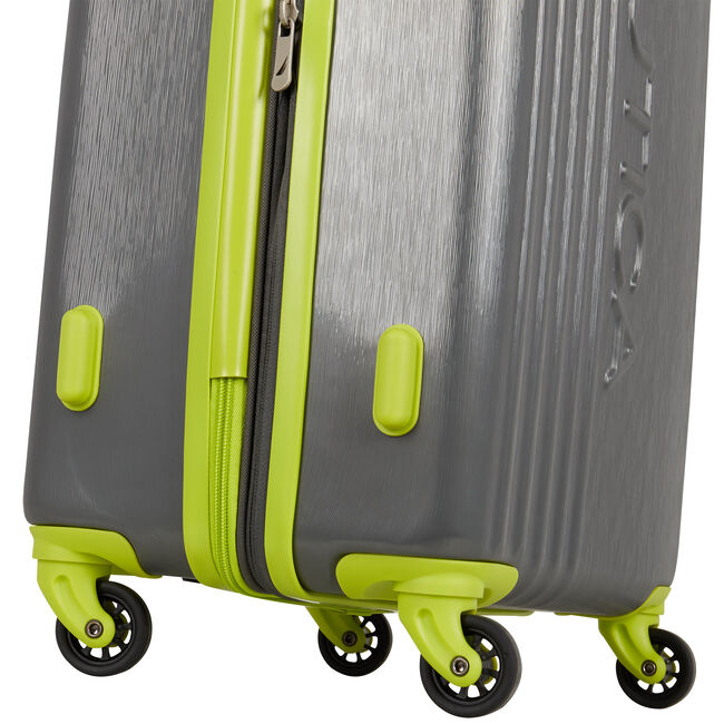 "Lifeboat 20"" Expandable Spinner Luggage,Charcoal,large"