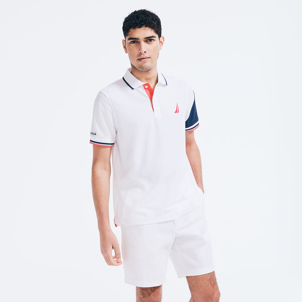 CLASSIC FIT NAVTECH N83 POLO - Bright White