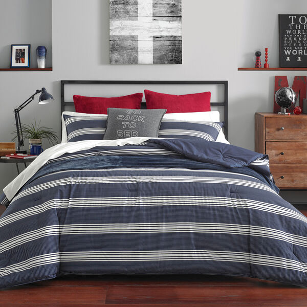 CRAVER COMFORTER & SHAM SET IN NAVY - Pure Dark Pacific Wash