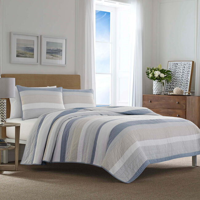 Terry Cove Beige King Quilt,Beige Heather,large